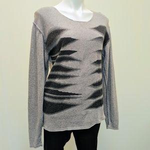 ISSEY MIYAKE Tiger Stripe Cotton Sweater S